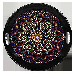 Creekside Mosaic Mandala Tray