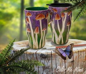 Creekside Mushroom Mugs